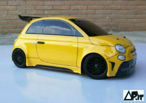 Carrozzeria-body-RC-scala-1-10-NEW-FIAT-500-ABARTH-RALLY-LEGEND-HEADLIGHTS