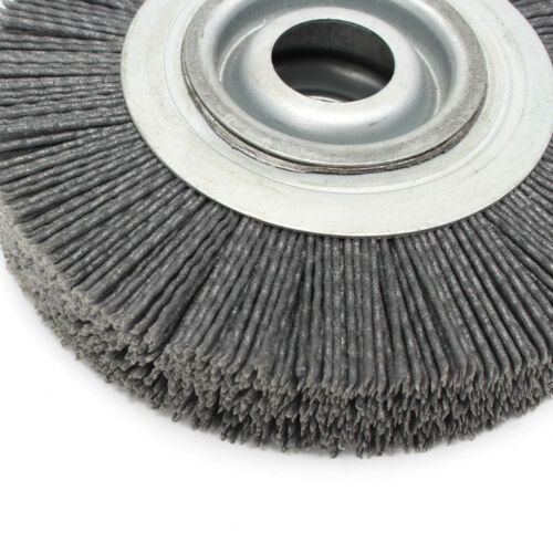 6/'/' Grit 120 Abrasive Nylon Wheel Brush 25mm Bore Diameter Polish Bench Grinder