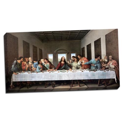 "V03-05 Leonardo da Vinci The Last Supper Framed Canvas Giclee Print 35/""x20.5/"""