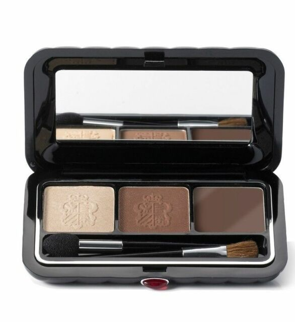 Borghese Satin Shadow Milano Duo With Eyeliner- Bellezza Brown 01 - NIB
