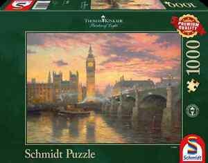 SCHMIDT JIGSAW PUZZLE EVENING MOOD IN LONDON THOMAS KINKADE 1000 PCS #59471