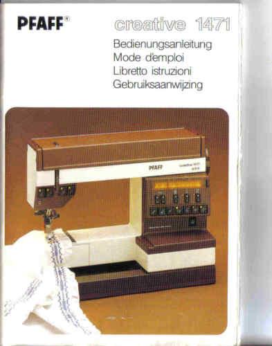 Pfaff Creative 1471 Nähbuch Anleitung
