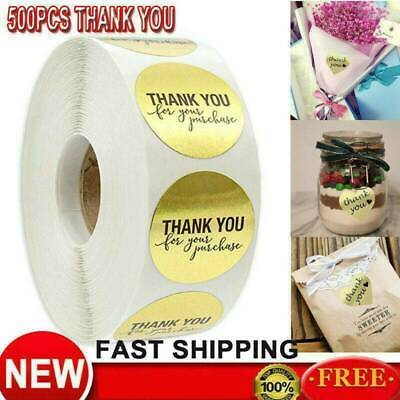 500Pc//Roll Thank you Stickers Wedding Flower Baking Handmade Adhesive Labels U S