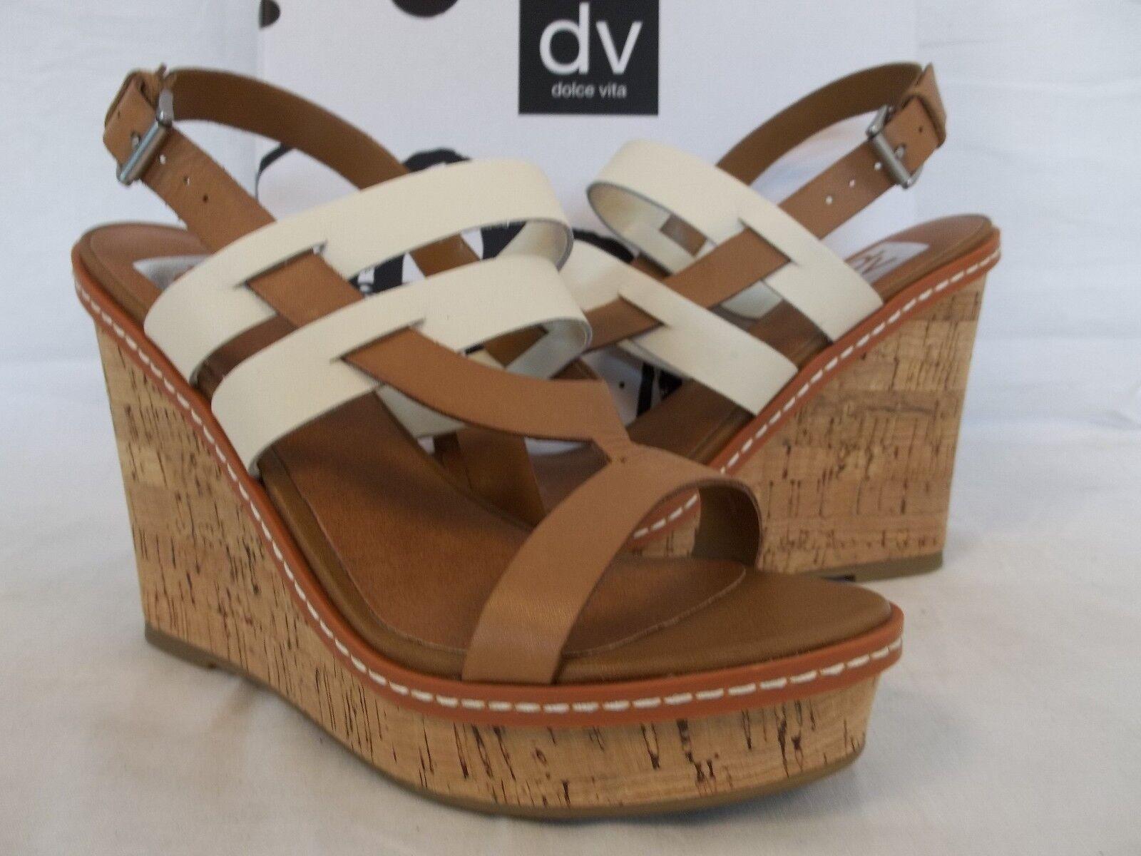 Dolce Vita Bone Sz 9.5 M Jillian Bone Vita Honey Leder Open Toe Wedges New Damenschuhe Schuhes 10c856
