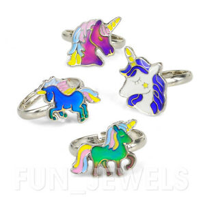 368799862d36 Details about Cute Fairy Tale Unicorn Kids Children Color Change Mood Ring  Adjustable Free box