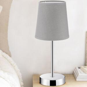 Bakaji 02833769 Lampada da Tavolo - Cromo/Grigio