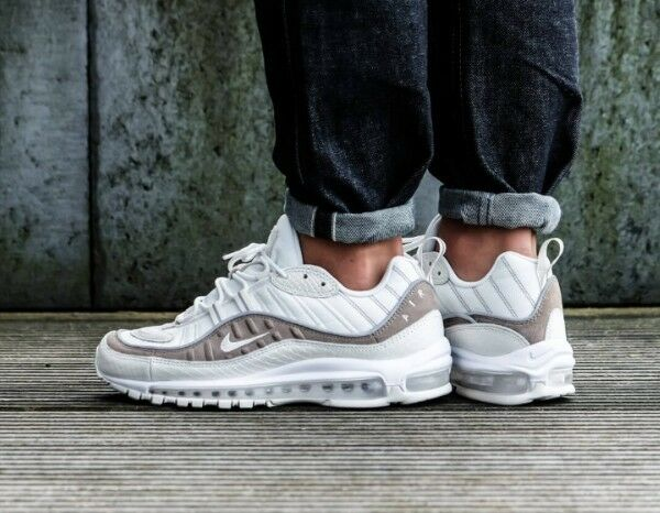 Nike Air Max 98 SE Taille 12 UK exotique Peau Véritable Authentique Baskets Homme 97 1-