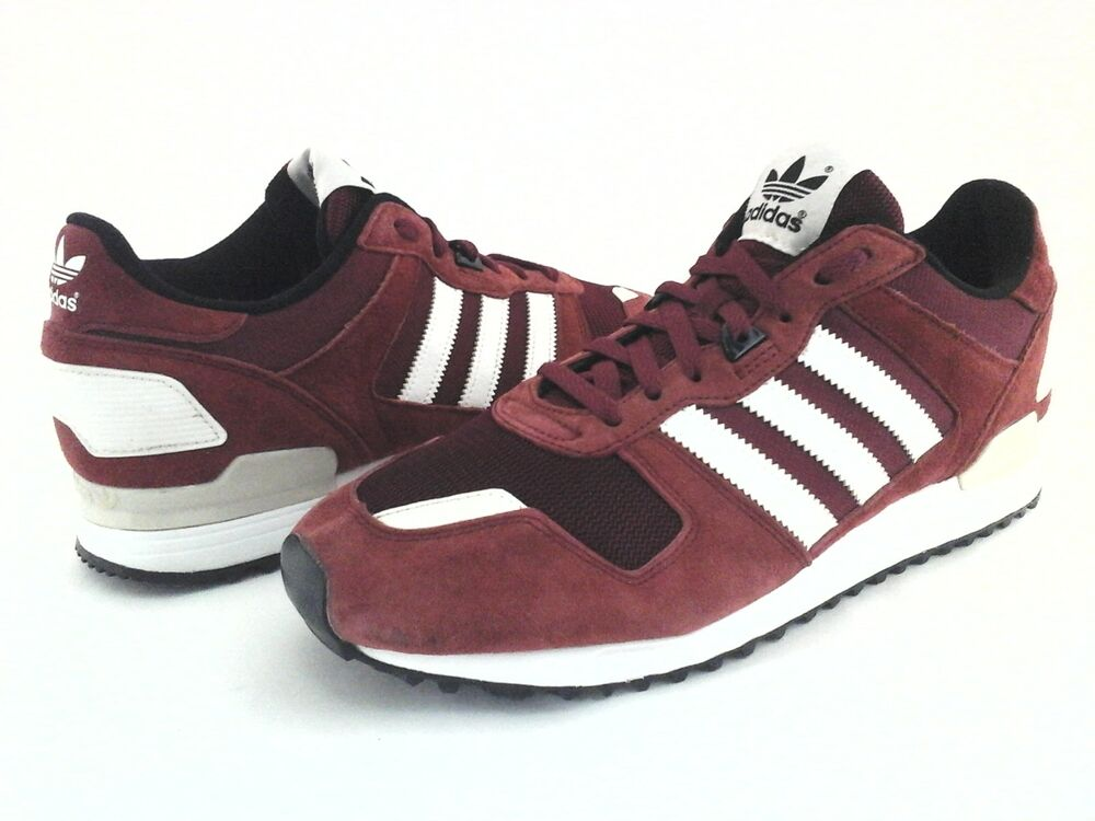 ADIDAS Originals chaussures ZX 700 Retro Suede Burgundy Sneakers B24840 homme US 10/44