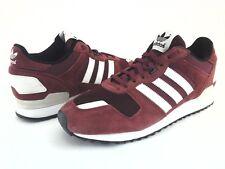 6159abc197af5 ADIDAS Originals Shoes ZX 700 Retro Suede Burgundy Sneakers B24840 Mens US  10 44