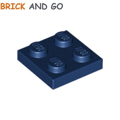Nuevo Nueva 4X Lego 3022 Placa Dark Blue , Earth Azul Azul Oscuro Plano 2x2