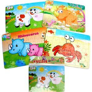 Puzzle-Tiere-49-Teile-19-x-26-cm-Spielset-ab-3-Jahre-Lernen-Lernhilfe