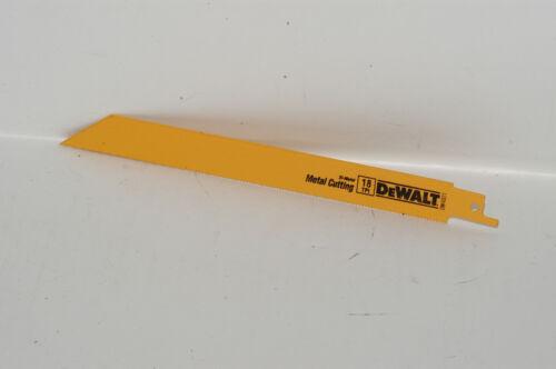 """Dewalt Metal Bi-Metal 14 TPI 8/"""" Reciprocating Saw Blades DW4809"""
