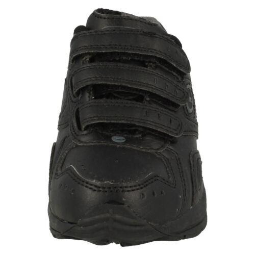 CHILDRENS BOYS HI TEC XT115 EZ JNR RIPTAPE STRAP BLACK SCHOOL TRAINER SHOES