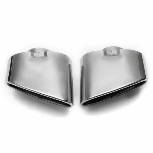 Endrohr Auspuffblende Auspuff Sport Stahl Tuning 2x für Bmw X5 E70 Chrom