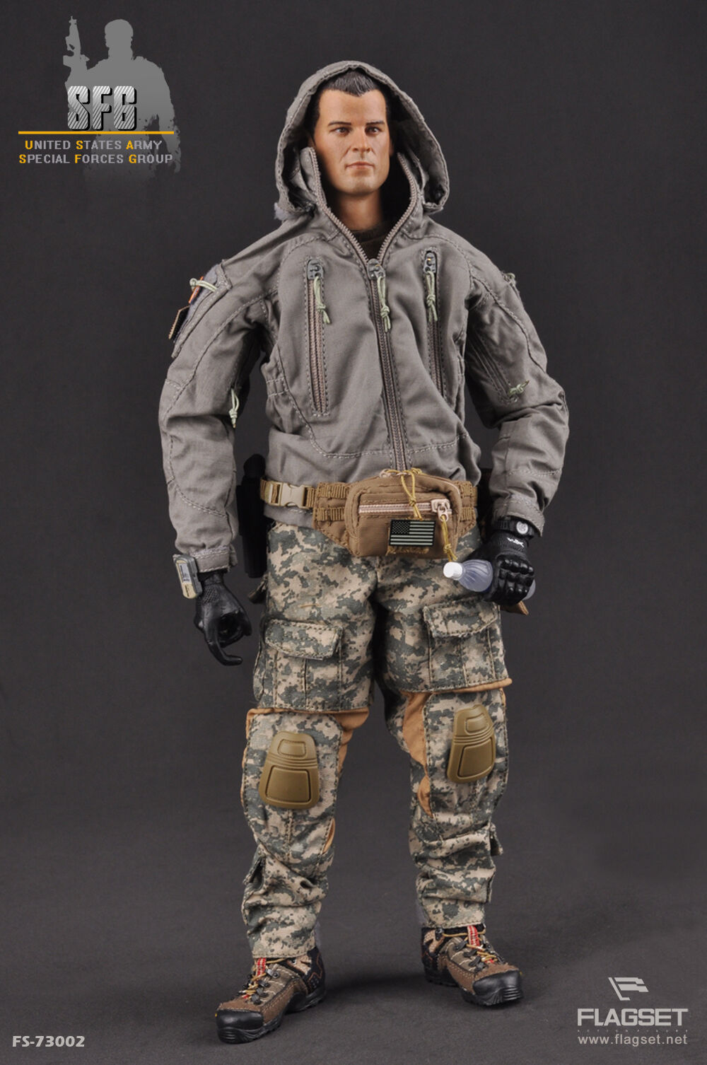 Flagset 12  1 6 Scale US Army Soldier Special Forces Group Action Figure SFG