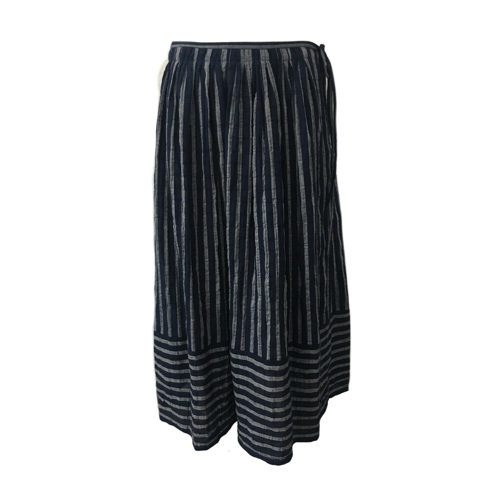 ASPESI skirt woman bluee striped white mod H506 G165 99% cotton 1% polyurethane