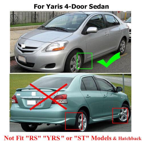 XUKEY Mudguard Splash Flap Mud Flaps Splash Guards For Toyota Yaris Sedan 2007