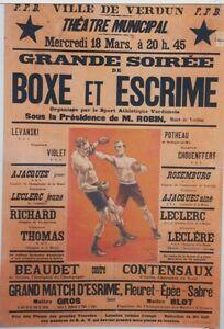 """""""BOXE et ESCRIME VERDUN 1925"""" Affiche originale entoilée  Litho FARIA 88x126cm YiFD5L4U-07134542-670018074"""