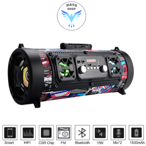 Wireless Blautooth Waterproof Portable High-power Music Barrel Blautooth Speaker
