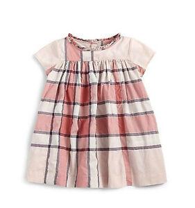 568f2c9e8 New Burberry Baby Girls Pink Classic Nova Check Dress 6 9 12 Months ...