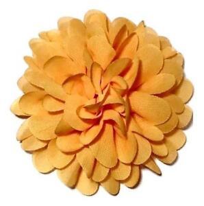 "White 3.75/"" lace chiffon flower DIY hair bow /& headband supplies"