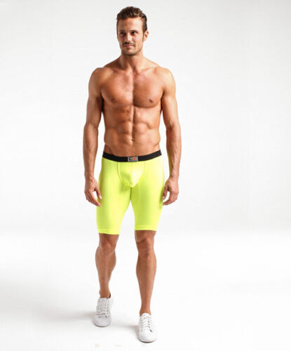 Cocksox Men/'s Anatomical Pouched Sport Long Boxer Shorts 2 Colors