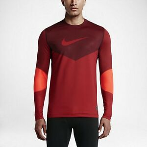 Image is loading Nike-699974-Pro-Hyperwarm-Line-Crew-Fitted-Men-