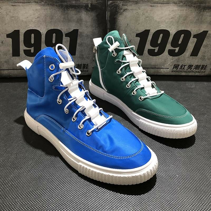 Men's Lace Up High Top Sneakers Casual Breathable Sport shoes Breathable Ths01