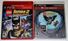 PS3 Game Lot - LEGO Batman 2: DC Super Heroes (Used) LEGO Batman (New)