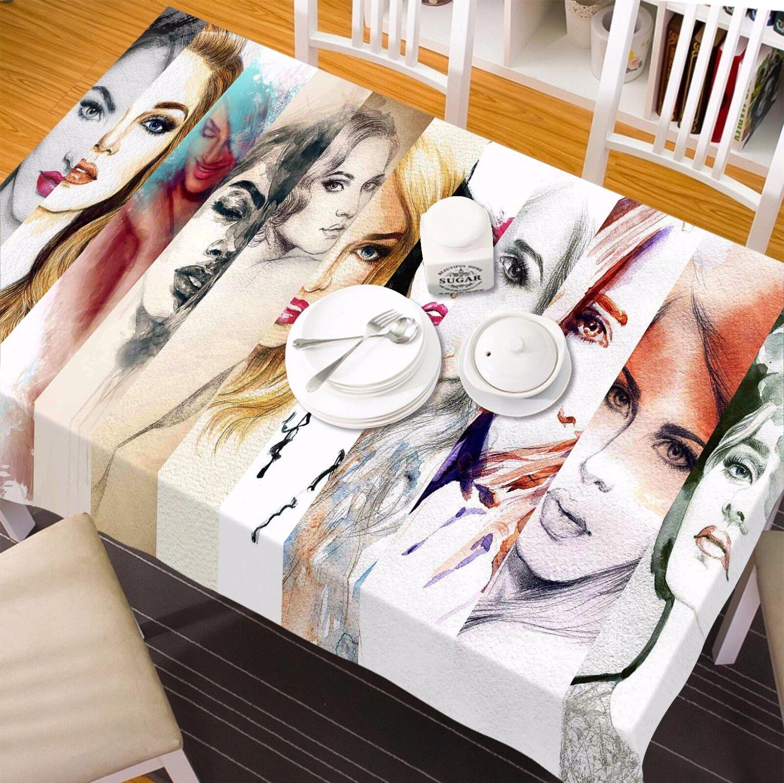 3D filles 8748 Nappe Table Cover Cloth Fête D'Anniversaire événement AJ papier peint UK