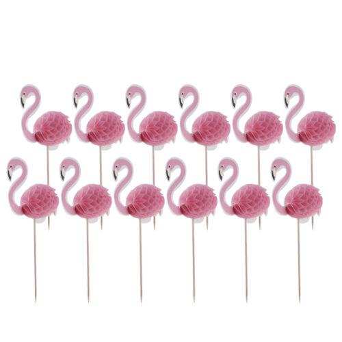 Reizende Flamingo Kuchendekoration Cupcake Picks Torten Aufsatz Muffin