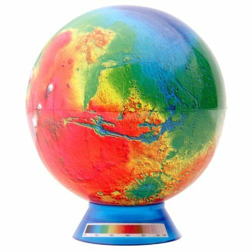ya07273 Watanabe teaching tools mini-Mars matter blue stand terrestrial globe