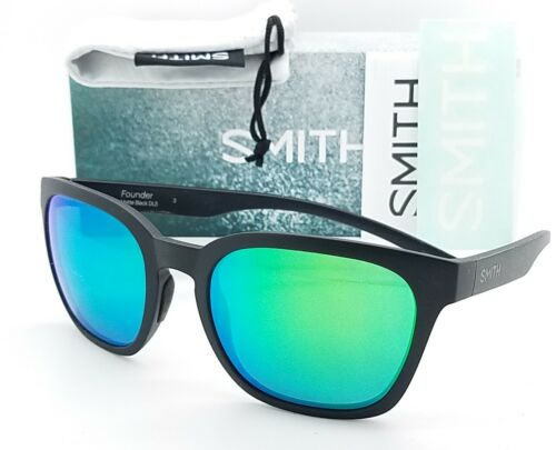 NEW Smith Founder sunglasses Matte Black Green Sol-X AUTHENTIC $99 MSRP unisex