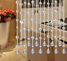 "Fushing 5Pcs 59"" Clear Crystal Garland Wedding Bead Strands With Free Pendants"
