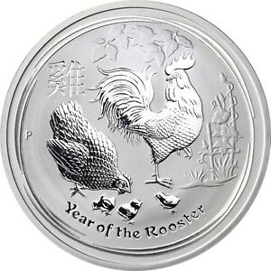 Australien-1-Dollar-2017-Jahr-des-Hahn-mit-Henne-und-Kuecken-Anlagemuenze