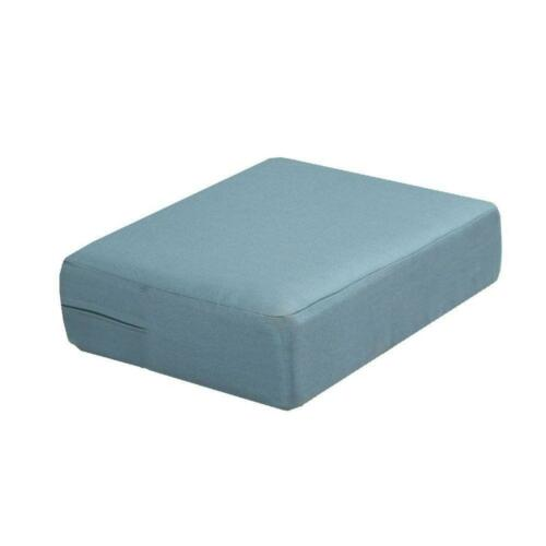 Washed Blue Replacement Outdoor Ottoman Cushion Outdoor Patio Furniture Backyard