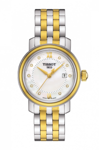 Tissot Swiss Made T-Classic Bridgeport 2 Tone Gold Plated MOP Ladies' Watch