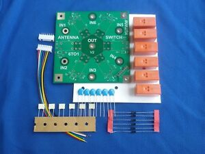 Details about Antenna remote switch 6 antenna's 2KW ham amateur radio DIY  KIT HF+50MHz