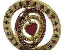 Triple Spade Spinner Heart Card Guard Poker Hand Protector Metal NEW