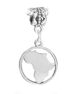 Africa-Continent-Silhouette-Map-Globe-Dangle-Charm-for-European-Slide-Bracelets