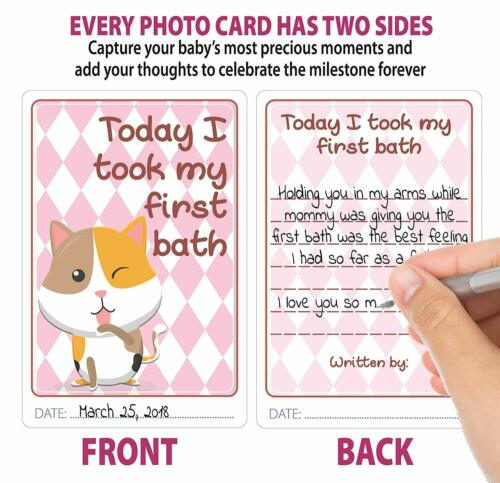 Baby Monthly /& Milestone Stickers Premium Pack of 44 Items 24 Stickers 20 Cards