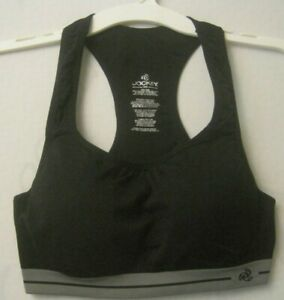 Jockey-Black-and-Gray-36B-Fully-Padded-with-Underwires-Racer-Back-Sports-Bra