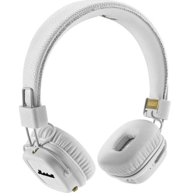 Marshall Major II Collapsible Wireless Bluetooth Headphones - White