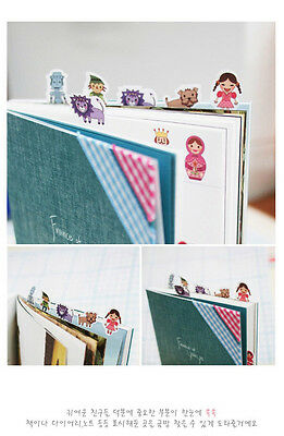 Cute 3 Wood J & Bobbin Story Toy Bookmark Index Seal Stickers - 2 Sheets