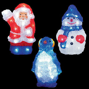 Image Is Loading Led 22cm Battery Light Up Acrylic Christmas Decoration