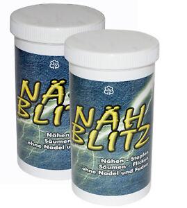 2-x-Naehpulver-Naehblitz-Naehen-ohne-Nadel-und-Faden-NEU