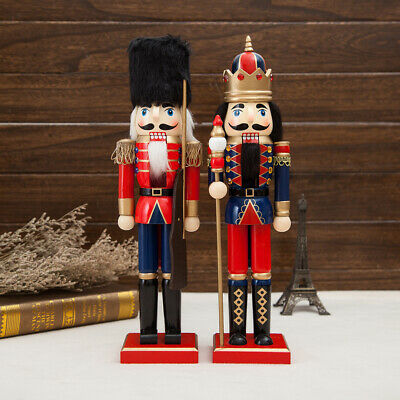 12 Piece Nutcracker Puppets Decor Soldiers Figurines Wooden Christmas Dolls