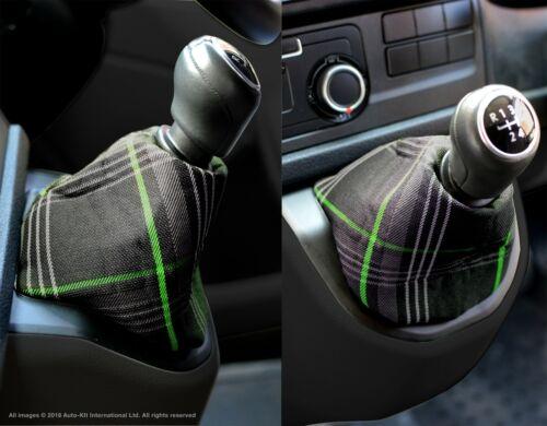 VW Transporter T6 INKA Gear Shift Knob Boot Gaiter Cover GTI Tartan Green