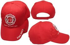 skull cap hat do du doo rag fire dept /'first in-last out/' sweat band made in USA
