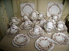 Antique ROYAL STAFFORD-CORAL PRIDE 39PCS bone china teaset